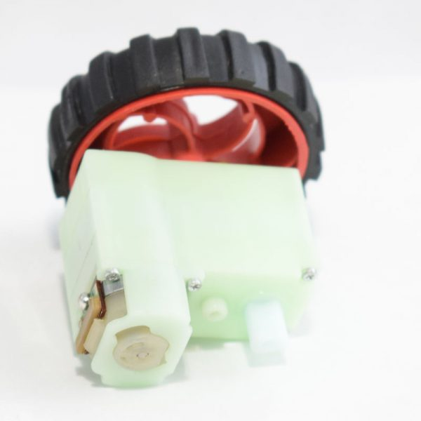 آرمیچر گربوکس دار پلاستیکی – موتور گیربوکس دار – موتور ربات – دو شفت