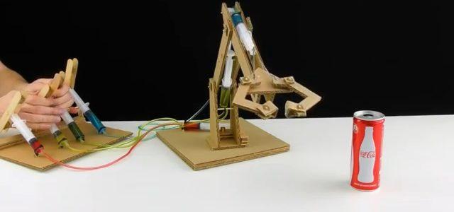 ساخت بازوی ربات هیدرولیکی