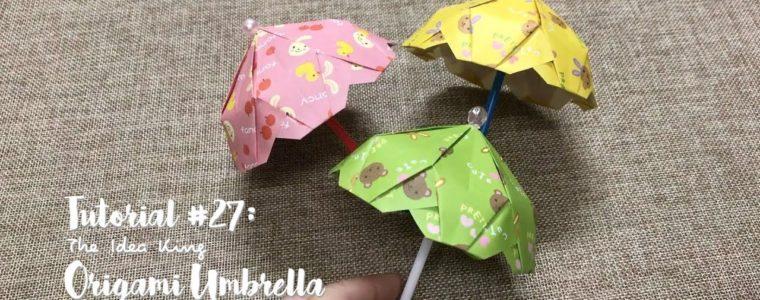 ساختن چتر تزئینی به شیوه اریگامی