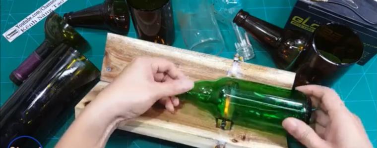 آموزش بریدن بطری شیشهای