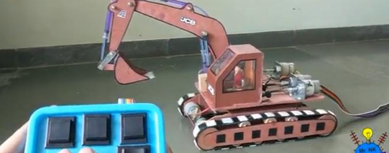 ساخت بیل مکانیکی هیدرولیکی قابل کنترل (اسباببازی)