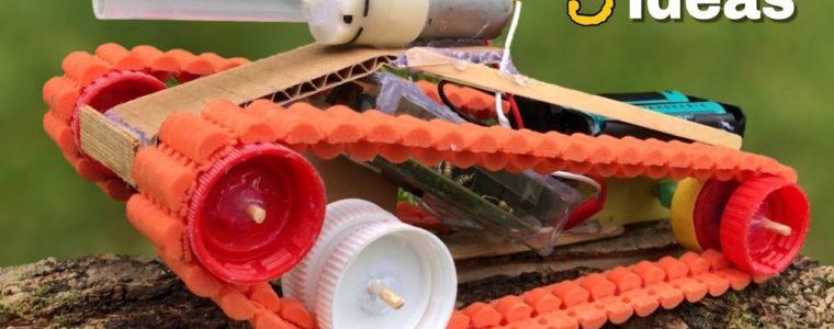 آموزش ساخت سه اسباب بازی کنترلی ( سورتمه – برف روب – تانک )