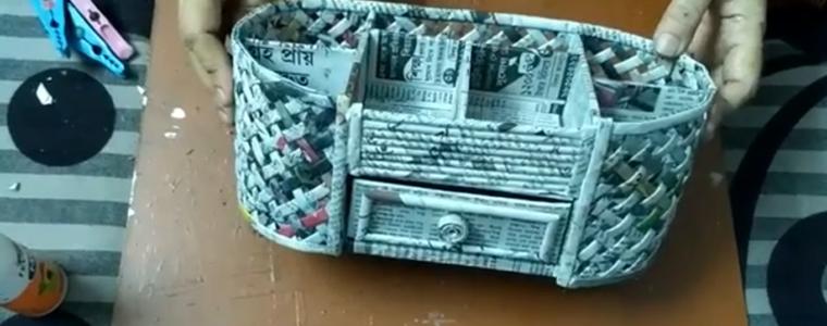 ساخت سبد با روزنامه باطله