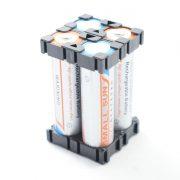 براکت باتری 18650 : براکت پلاستیکی 2 تایی نگهدارنده باتریهای سایز18650