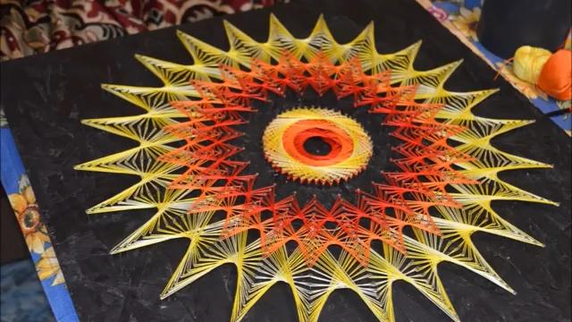 تابلو - آموزش زه کشی کاردستی - هنر - دست سازه.