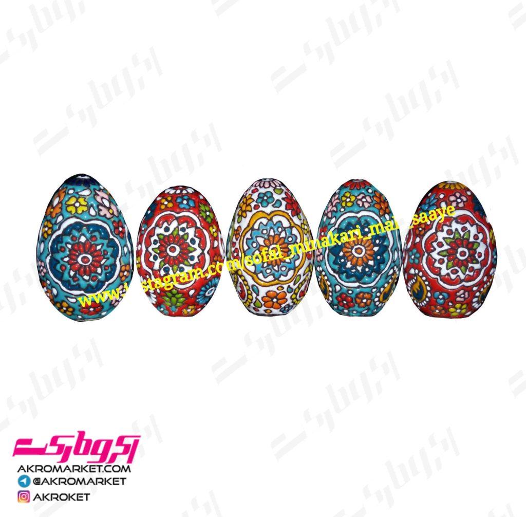 تخم مرغ میناکاری شده (در سه – صنایع دستی رنگ)-سفال