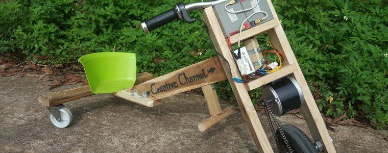 ساخت موتور سه چرخ الکتریکی