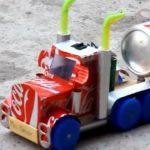 ساخت - اسباب بازی-کامیون - قوطی نوشابه - بازیافت -کاردستی - دست سازه2