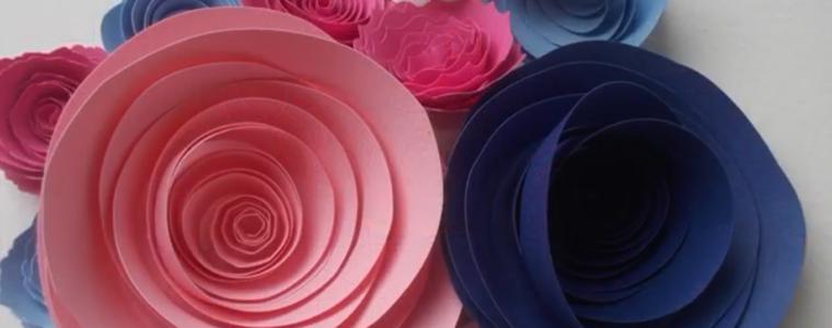 ساخت گلهای رنگارنگ کاغذی