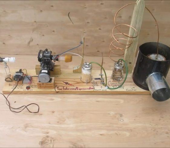 سوخت چوب موتور برق - موتور برق با سوخت چوب.