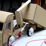 صنایعدستی-دستسازه-کاردستی-اسباببازی-کامیون-هیدرولیک