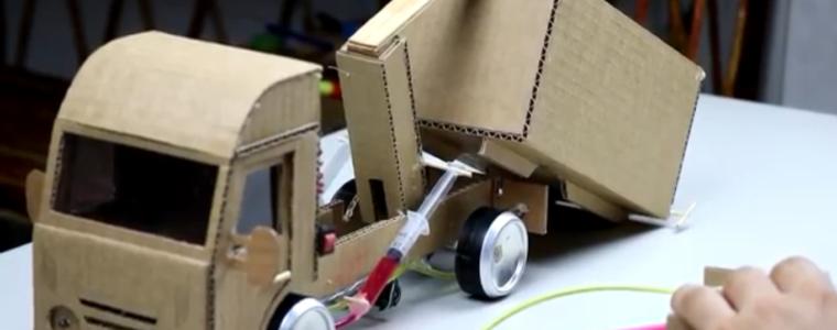 آموزش ساخت کامیون هیدرولیک