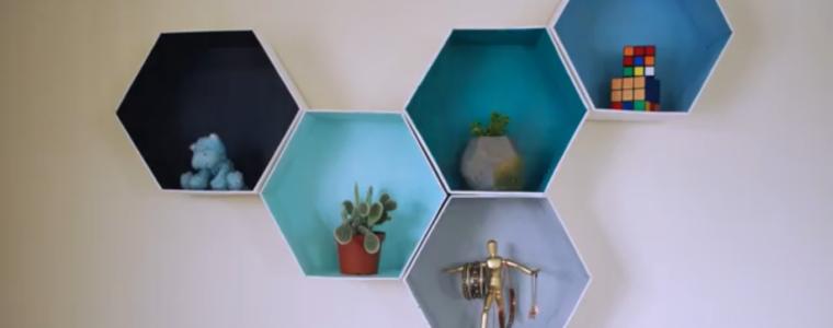 ساخت قفسههای دکوری رنگارنگ با کارتن مقوایی
