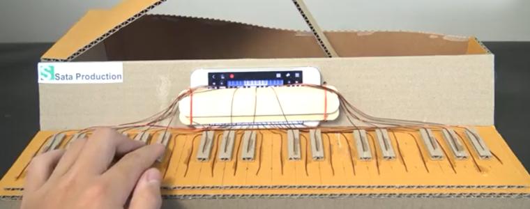 ساخت پیانو با مقوا