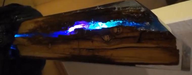 ساخت شب چراغ با کنده درخت
