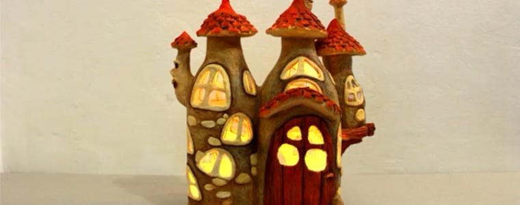 ساخت خانه پریان با بطری پلاستیکی