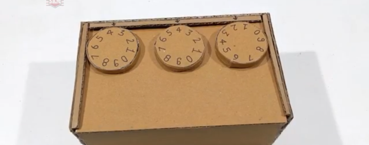 گاوصندوق-مقوایی-رمزدار-کاردستی