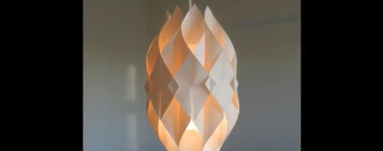 ساخت چراغ آویز مقوایی