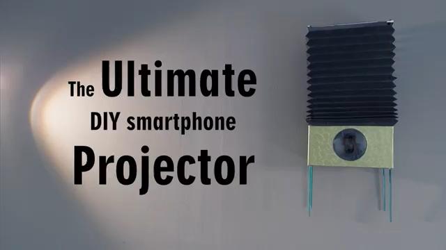 آموزش ساخت ویدئو پروژکتور برای موبایل - کاردستی - دست سازه