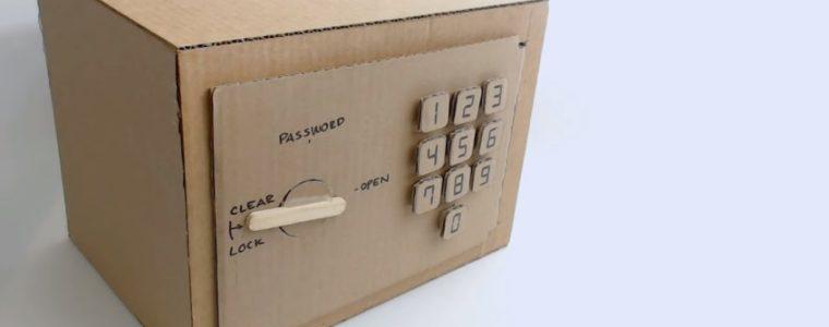 2 آموزش ساخت گاوصندوق رمز دار