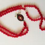 تسبیح دست ساز گلدوزی شده آکرومارکت -دست بند -گردنبند - ست دستبند و گردنبند - قیمت گردنبند - گردنبند دست ساز