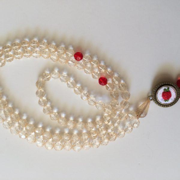 تسبیح دست ساز گلدوزی شده آکرومارکت -دست بند -گردنبند – ست دستبند و گردنبند – قیمت گردنبند – گردنبند دست ساز