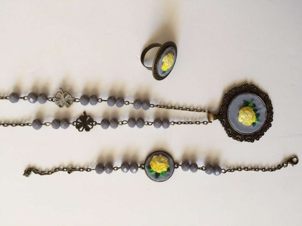 ست کامل گلدوزی تسبیح دست ساز گلدوزی شده آکرومارکت -دست بند -گردنبند – ست دستبند و گردنبند – قیمت گردنبند – گردنبند دست ساز